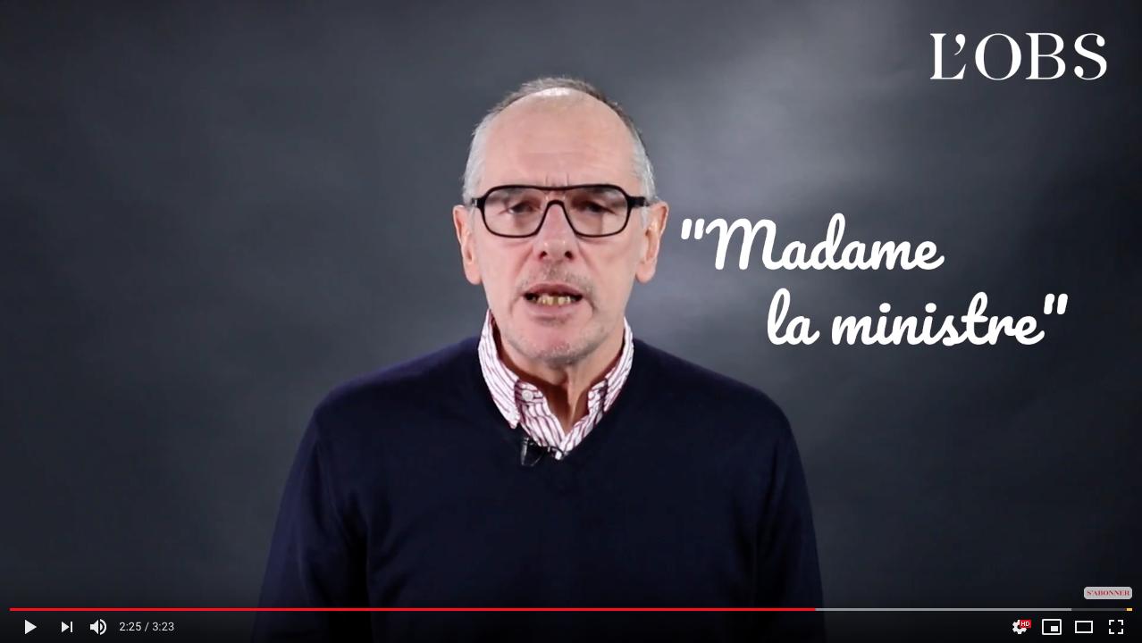 Faut-il écrire «le» ou «la» ministre ? – Vidéo